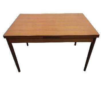 Mid-Century Modern Danish Extendable Draw Leaf Dining Table