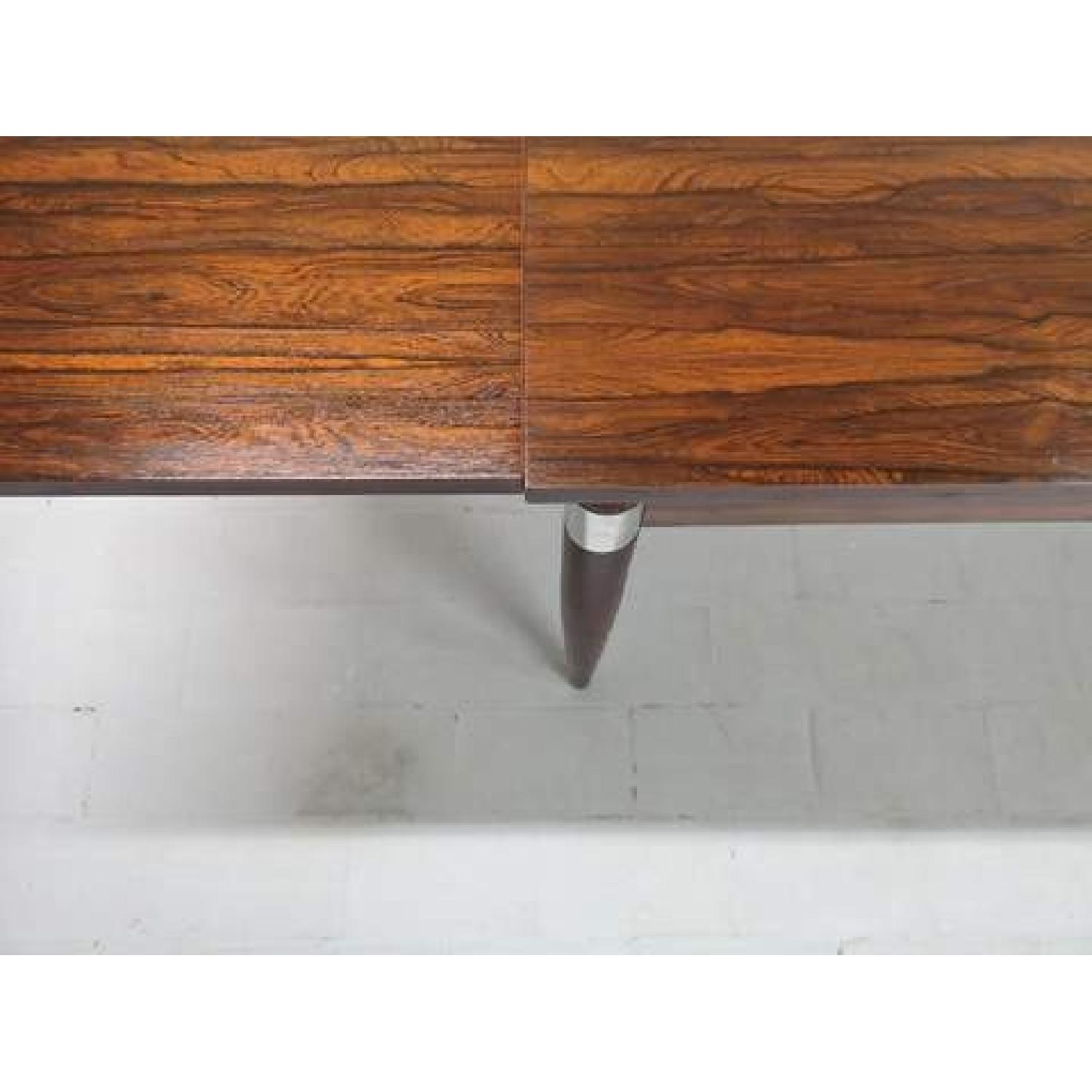 Mid-Century Modern Design Extendable Draw Leaf Dining Table - image-2