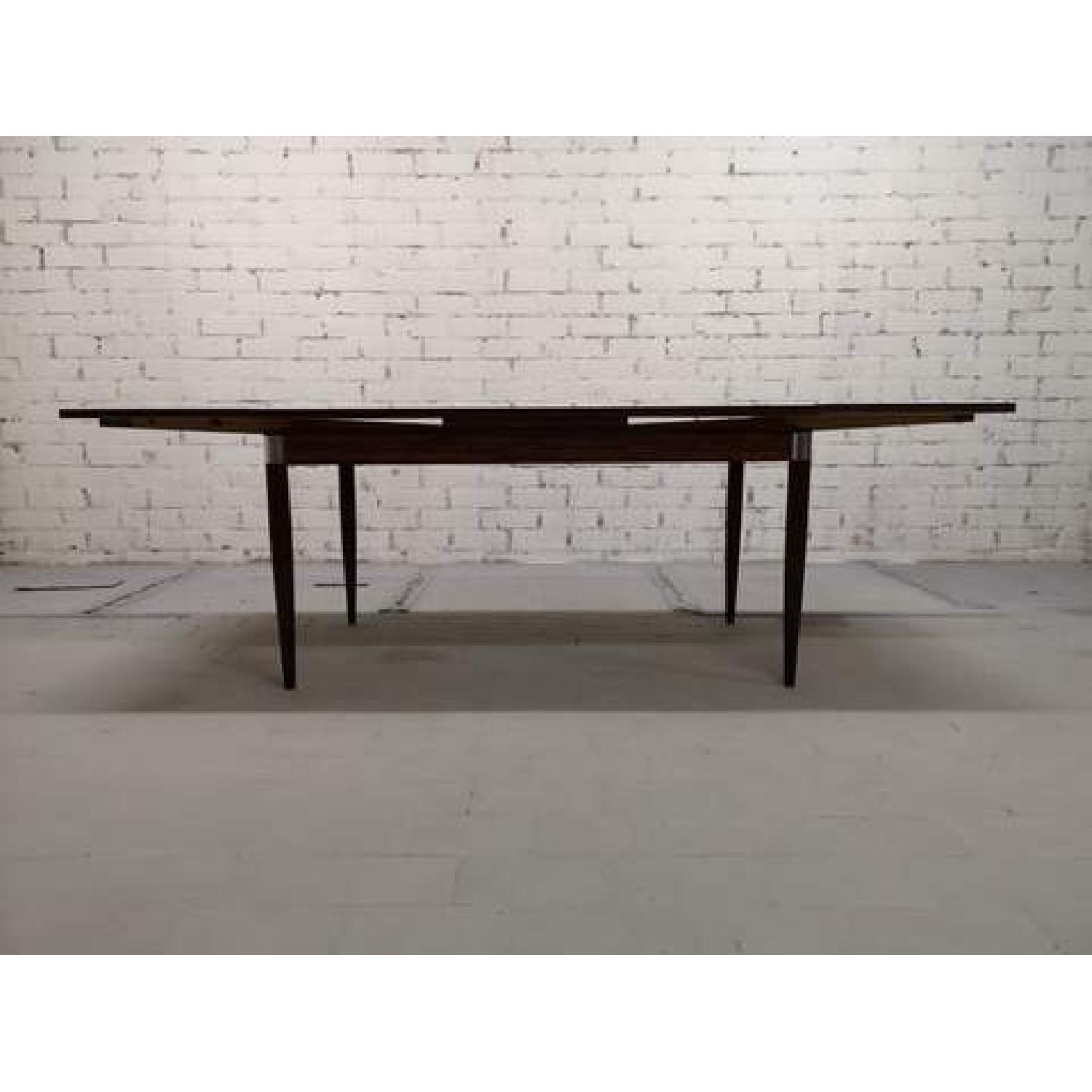Mid-Century Modern Design Extendable Draw Leaf Dining Table - image-3