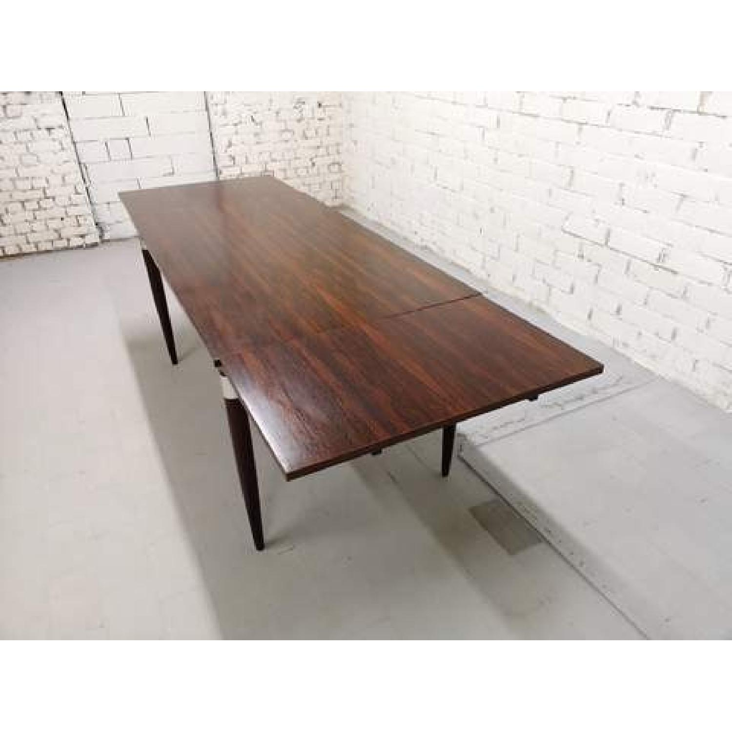 Mid-Century Modern Design Extendable Draw Leaf Dining Table - image-4