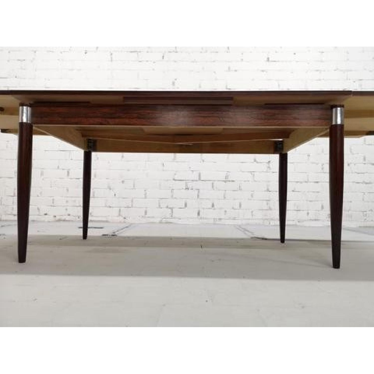 Mid-Century Modern Design Extendable Draw Leaf Dining Table - image-6