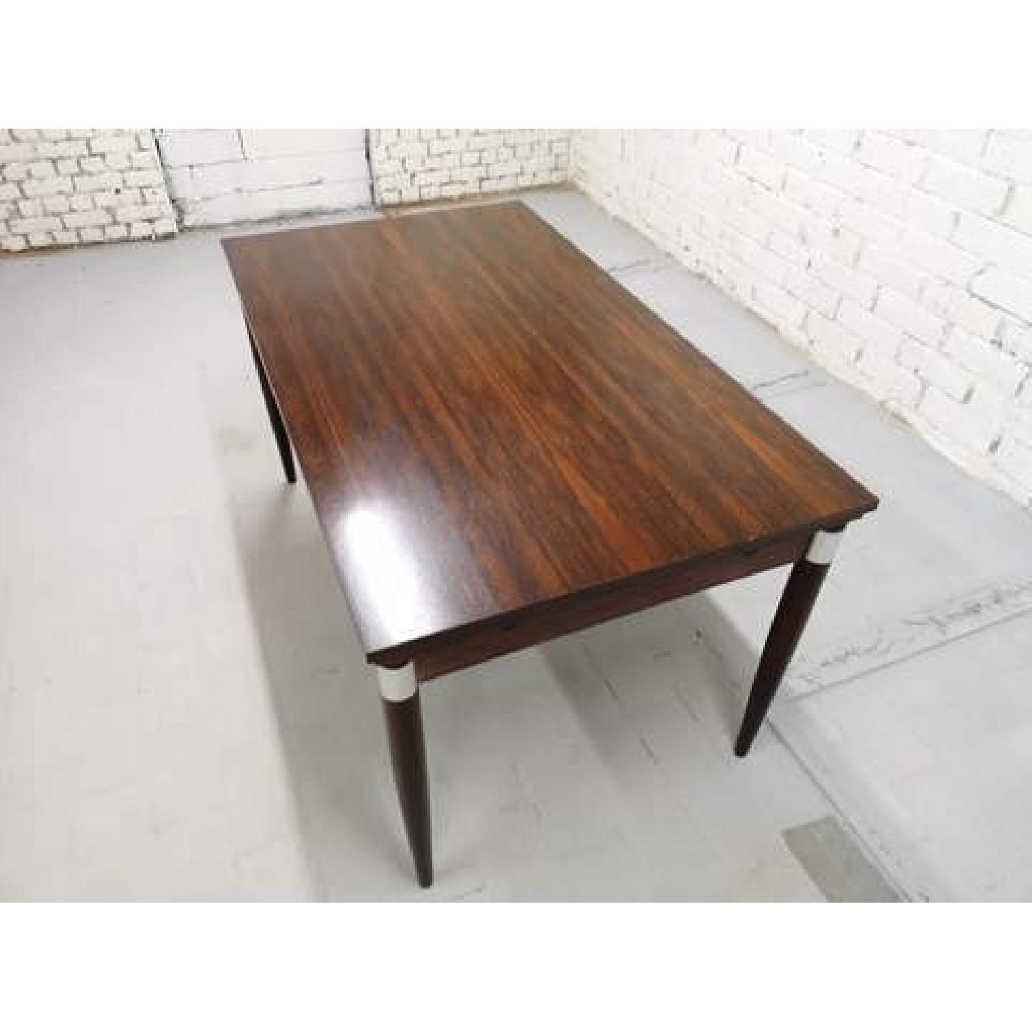 Mid-Century Modern Design Extendable Draw Leaf Dining Table - image-7