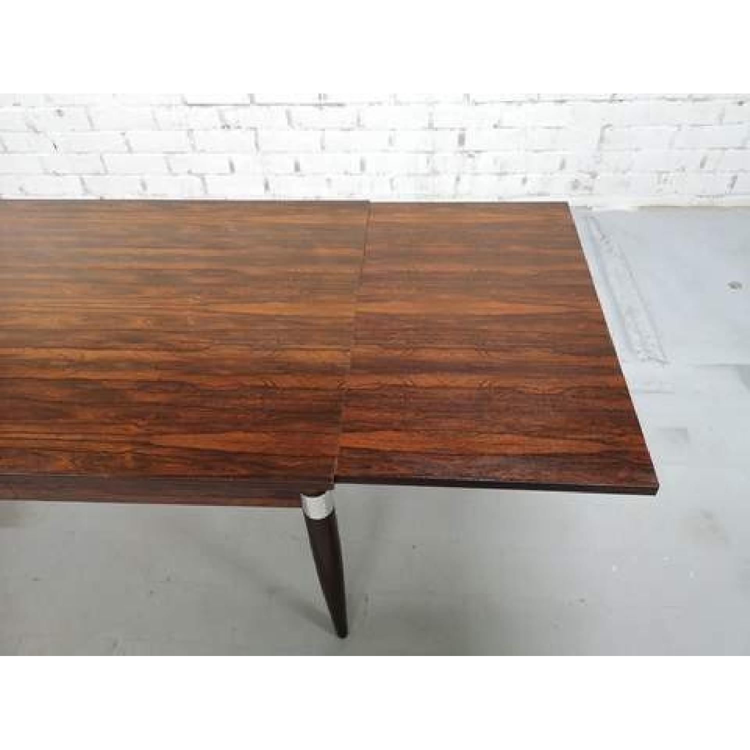 Mid-Century Modern Design Extendable Draw Leaf Dining Table - image-8