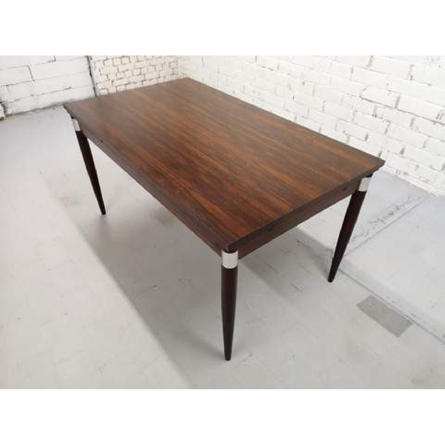 Mid-Century Modern Design Extendable Draw Leaf Dining Table - image-9