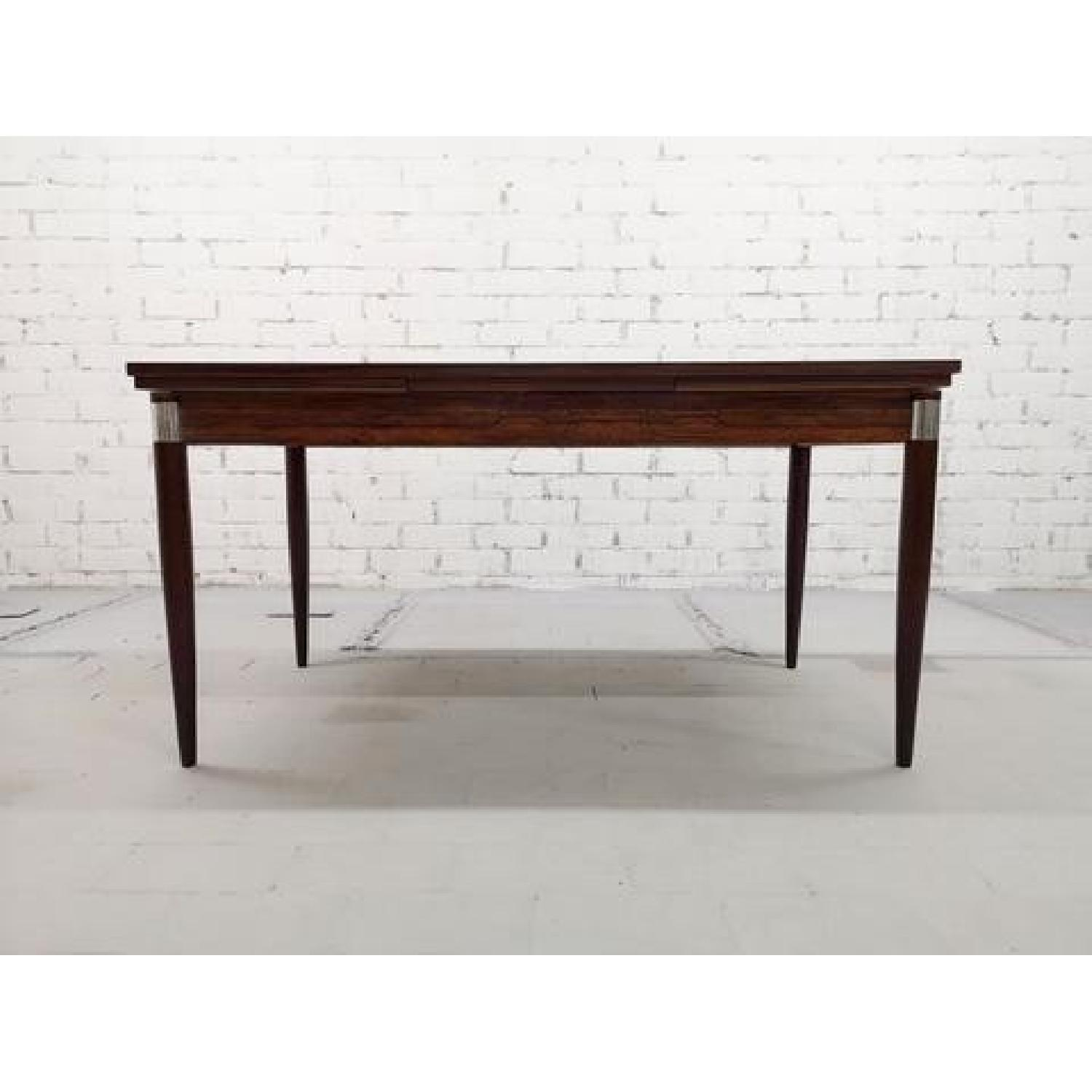 Mid-Century Modern Design Extendable Draw Leaf Dining Table - image-10