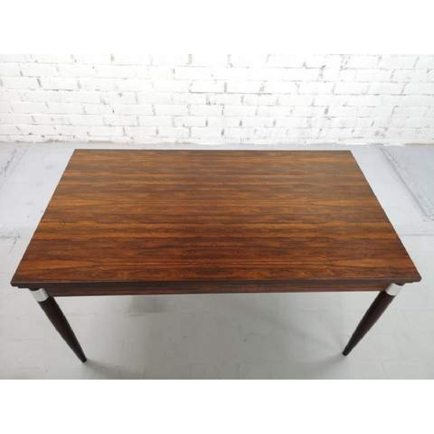 Mid-Century Modern Design Extendable Draw Leaf Dining Table - image-11