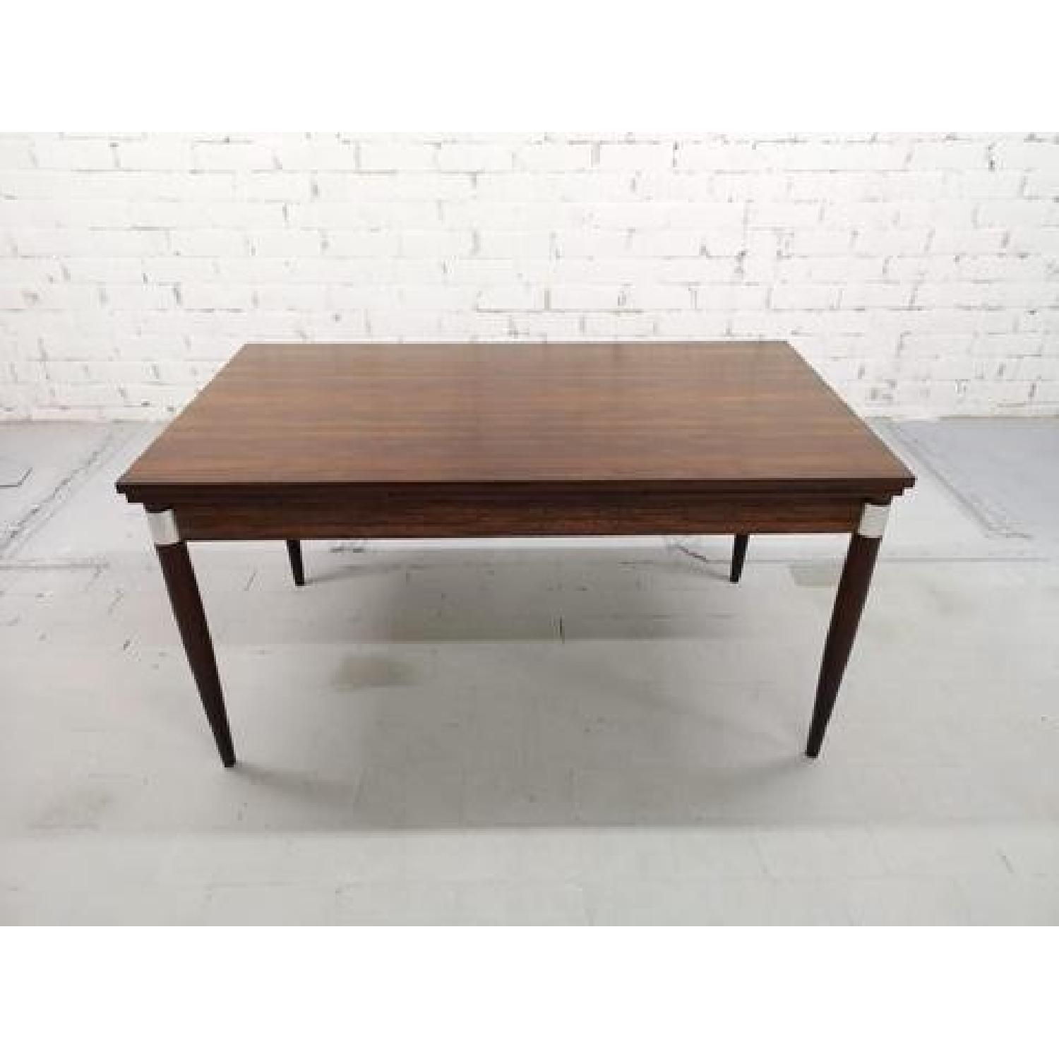 Mid-Century Modern Design Extendable Draw Leaf Dining Table - image-12