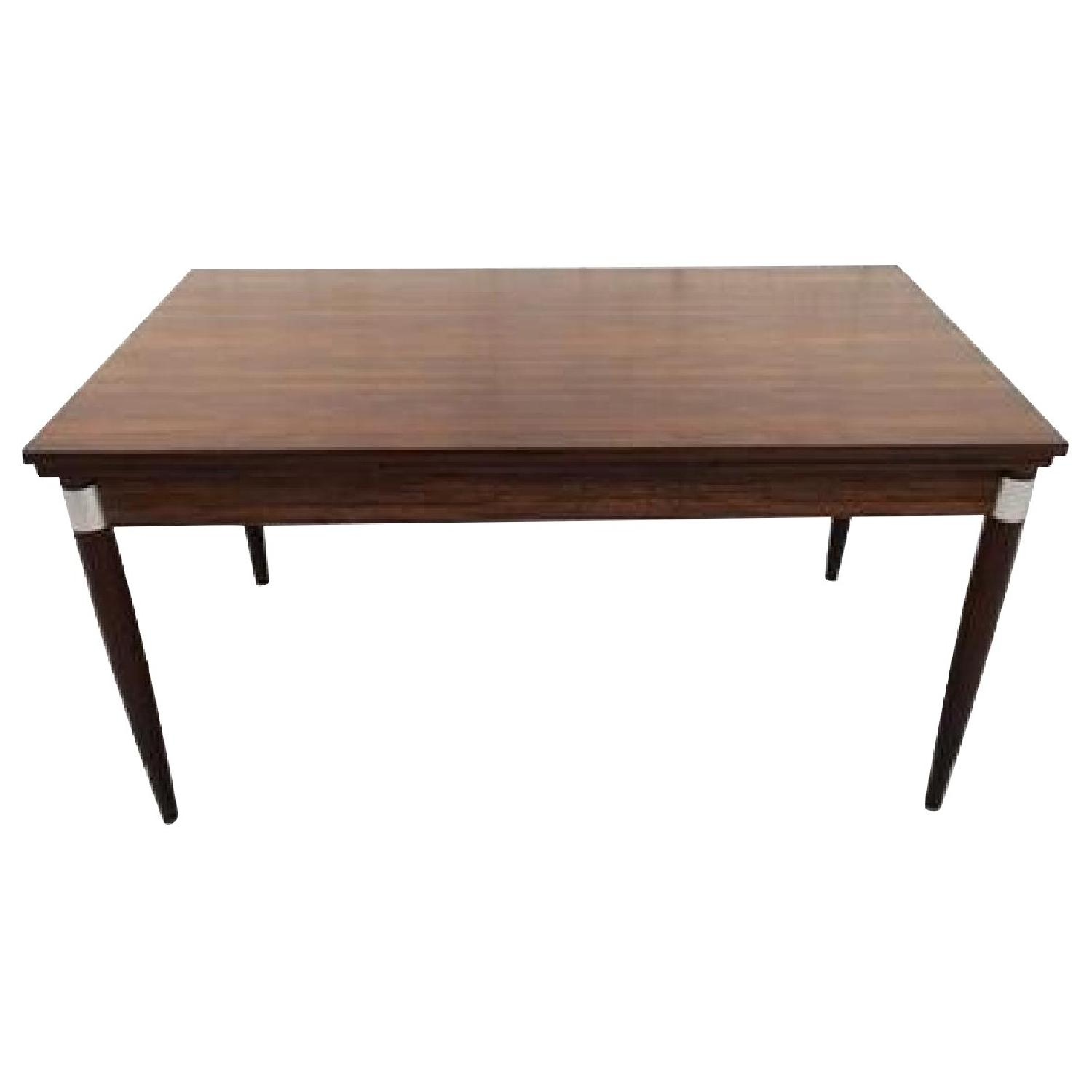 Mid-Century Modern Design Extendable Draw Leaf Dining Table - image-0
