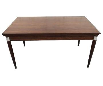 Mid-Century Modern Design Extendable Draw Leaf Dining Table