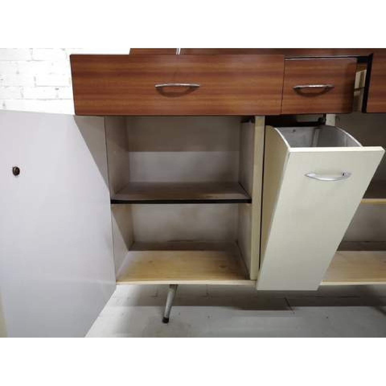 Vintage Mid-Century Modern Danish Two Tone Kitchen Cabinet-4