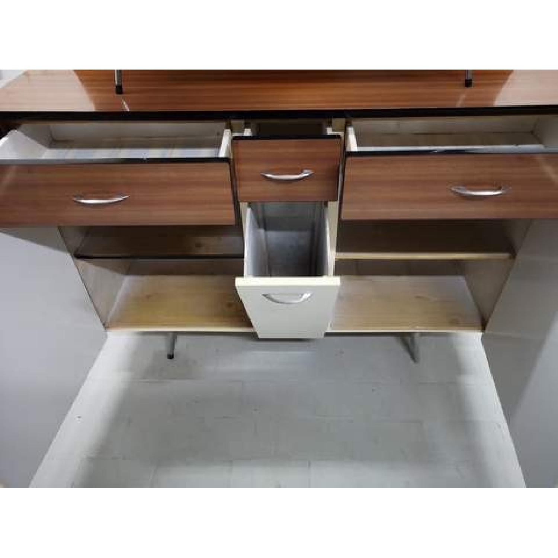 Vintage Mid-Century Modern Danish Two Tone Kitchen Cabinet-5