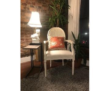 Vintage White Arm Chair
