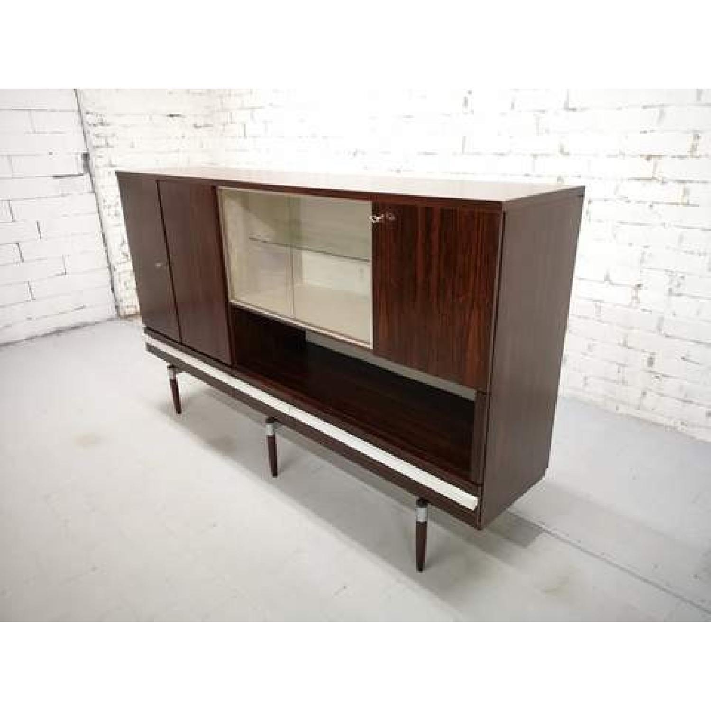 Vintage Retro 70s Danish Mid-Century Modern Display Cabinet-0