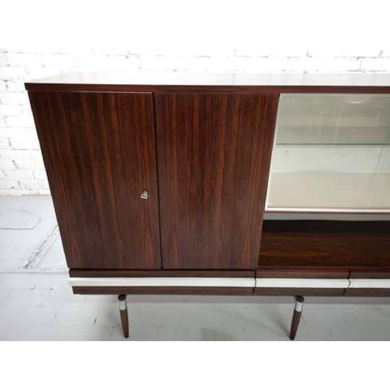 Vintage Retro 70s Danish Mid-Century Modern Display Cabinet-1