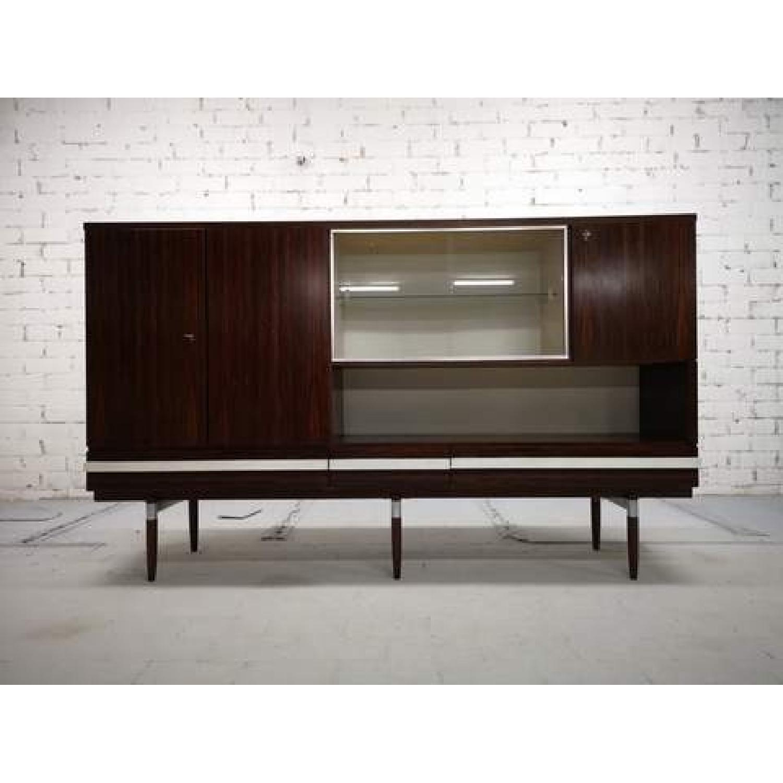 Vintage Retro 70s Danish Mid-Century Modern Display Cabinet-3