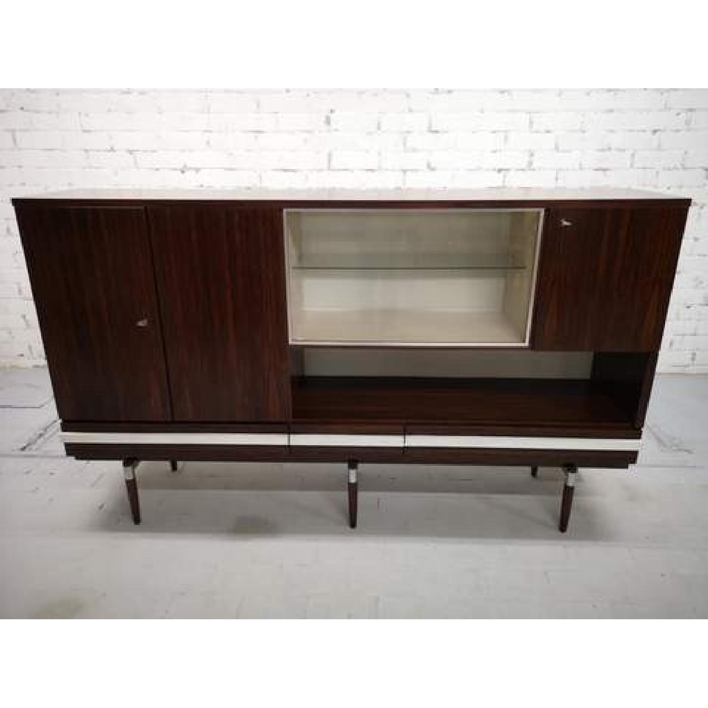 Vintage Retro 70s Danish Mid-Century Modern Display Cabinet-4