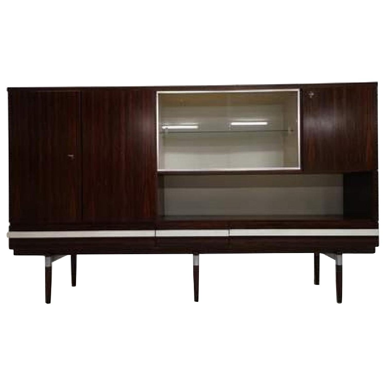 Vintage Retro 70s Danish Mid-Century Modern Display Cabinet - image-0