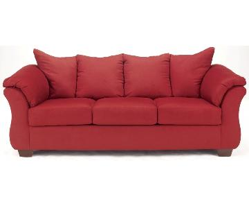 Ashley Darcy Sofa in Salsa