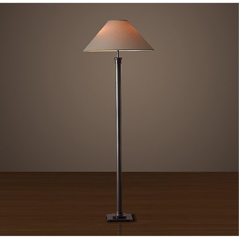 Restoration Hardware Metal Floor Lamp - set of 2