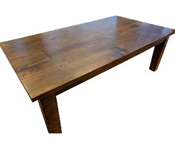 Crate & Barrel Brazilian Wood Coffee Table + Side table