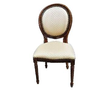 French Vintage Louis XVI Style Medallion Dining Chairs