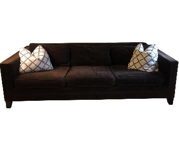 Mitchell Gold + Bob Williams Brown Suede Sofa