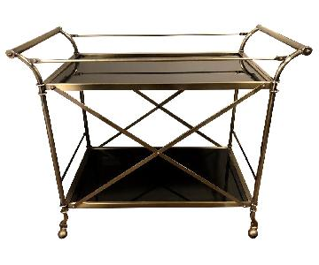 Gracie Oaks Kaufman Serving Bar Cart