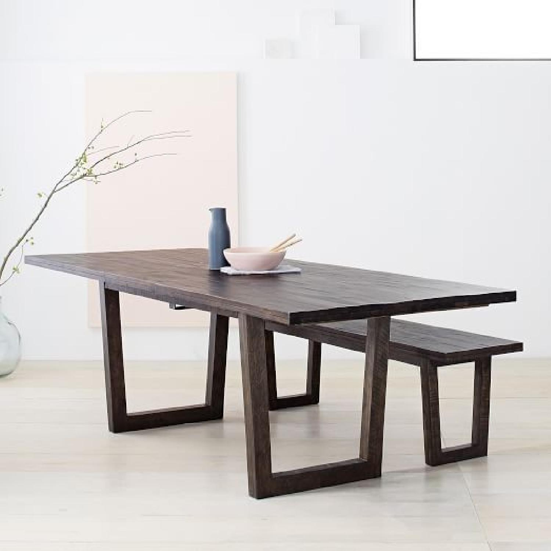 West Elm Logan Industrial Expandable Table w/ 1 Bench-0