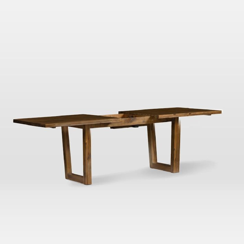 West Elm Logan Industrial Expandable Table w/ 1 Bench-1