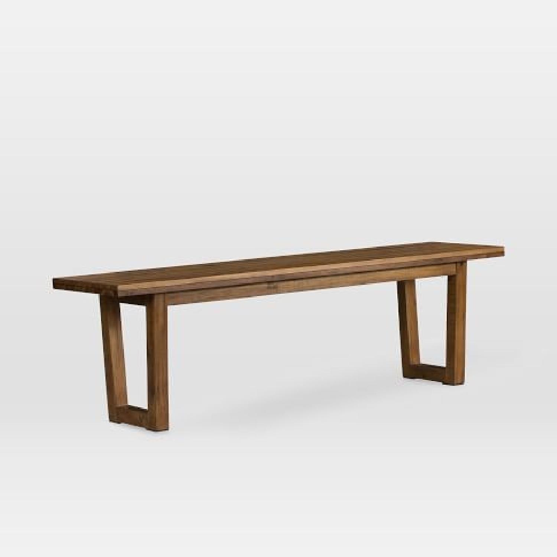 West Elm Logan Industrial Expandable Table w/ 1 Bench-2