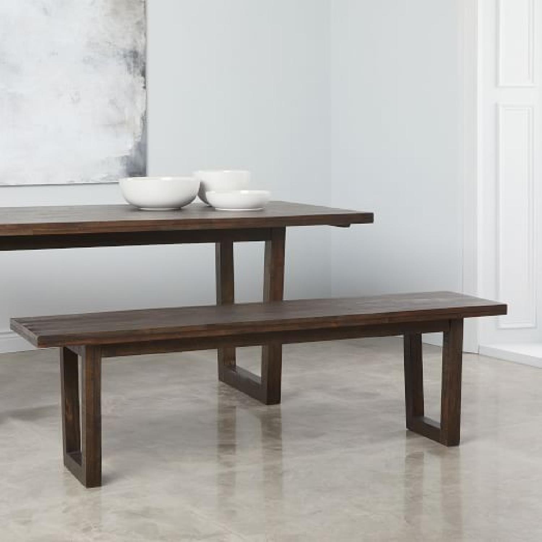 West Elm Logan Industrial Expandable Table w/ 1 Bench-3