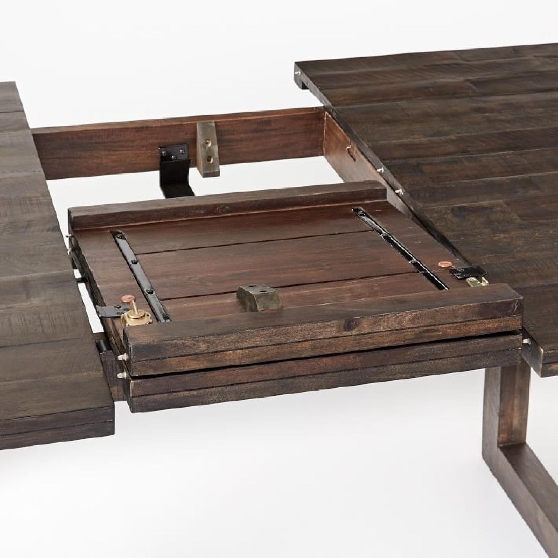West Elm Logan Industrial Expandable Table w/ 1 Bench-4