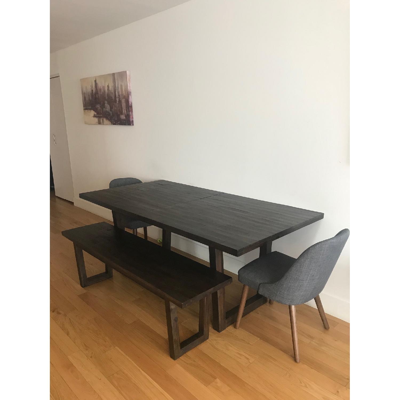 West Elm Logan Industrial Expandable Table w/ 1 Bench-5