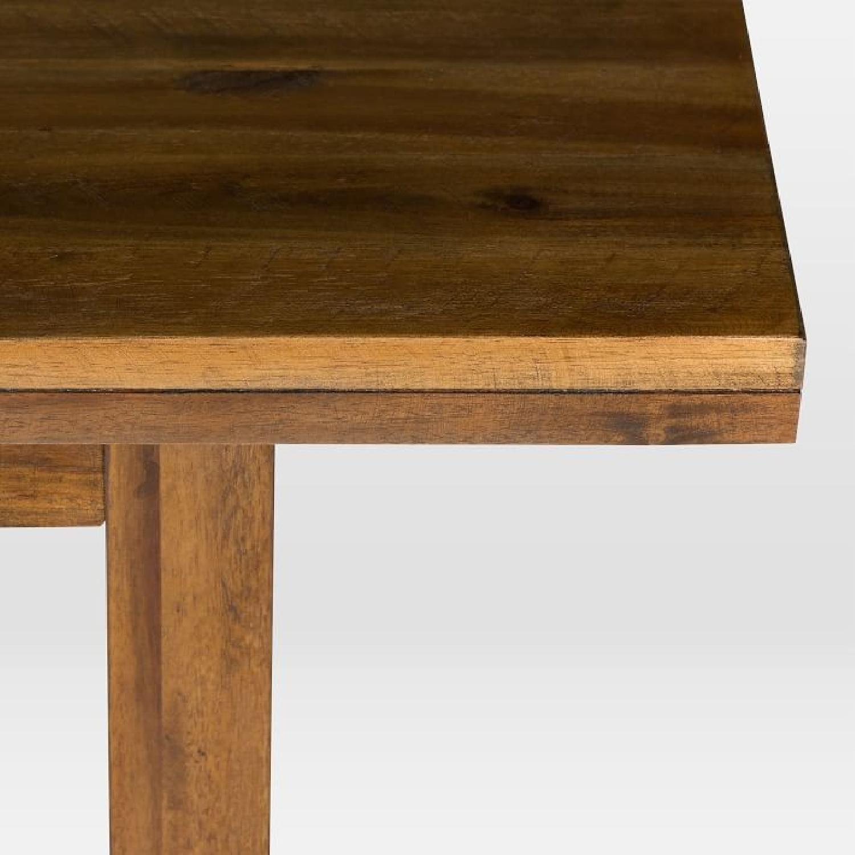 West Elm Logan Industrial Expandable Table w/ 1 Bench-6