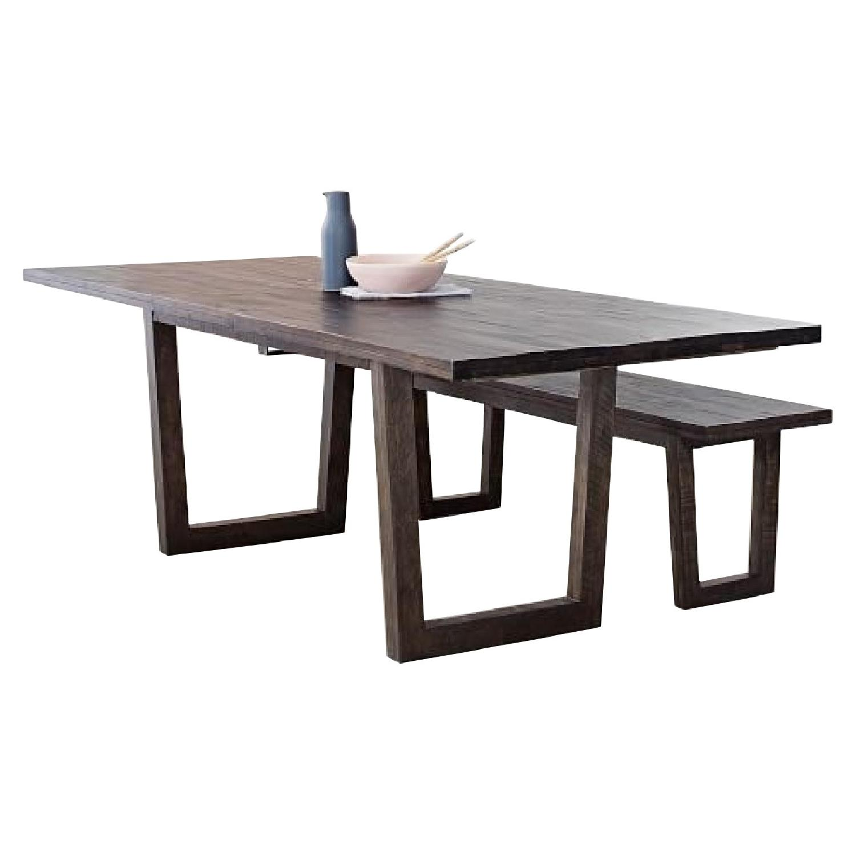 West Elm Logan Industrial Expandable Table w/ 1 Bench