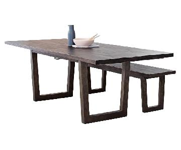 West Elm Logan Industrial Expandable Table w/ 1 Bench
