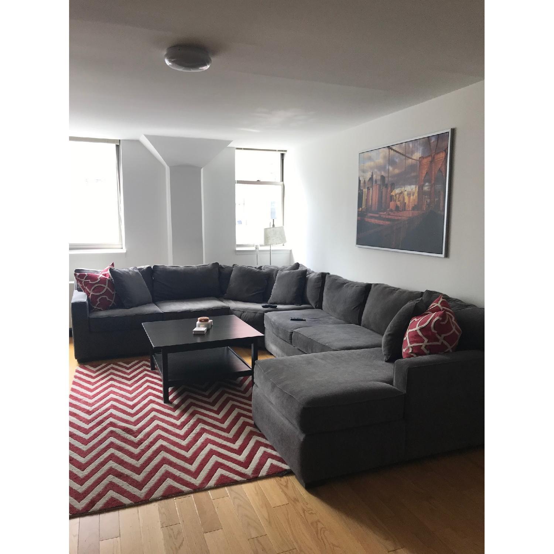 Macy\'s Radley Grey 5 Piece Sectional Sofa - AptDeco