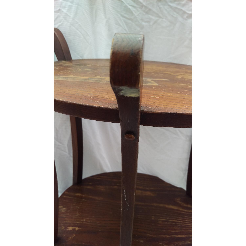 Vintage Lane Tiger Oak Wood Plant Stand-1