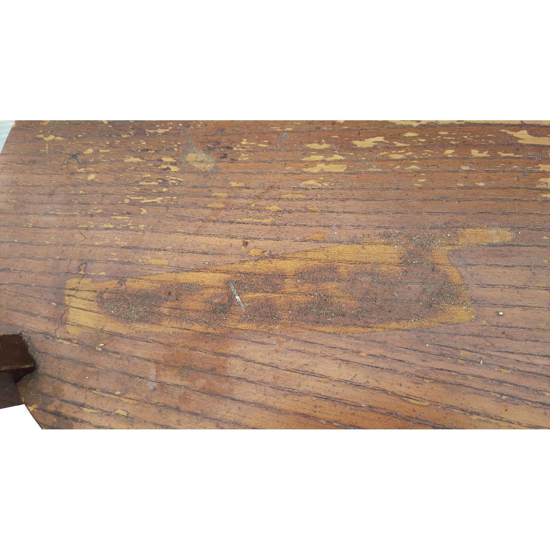 Vintage Lane Tiger Oak Wood Plant Stand-3