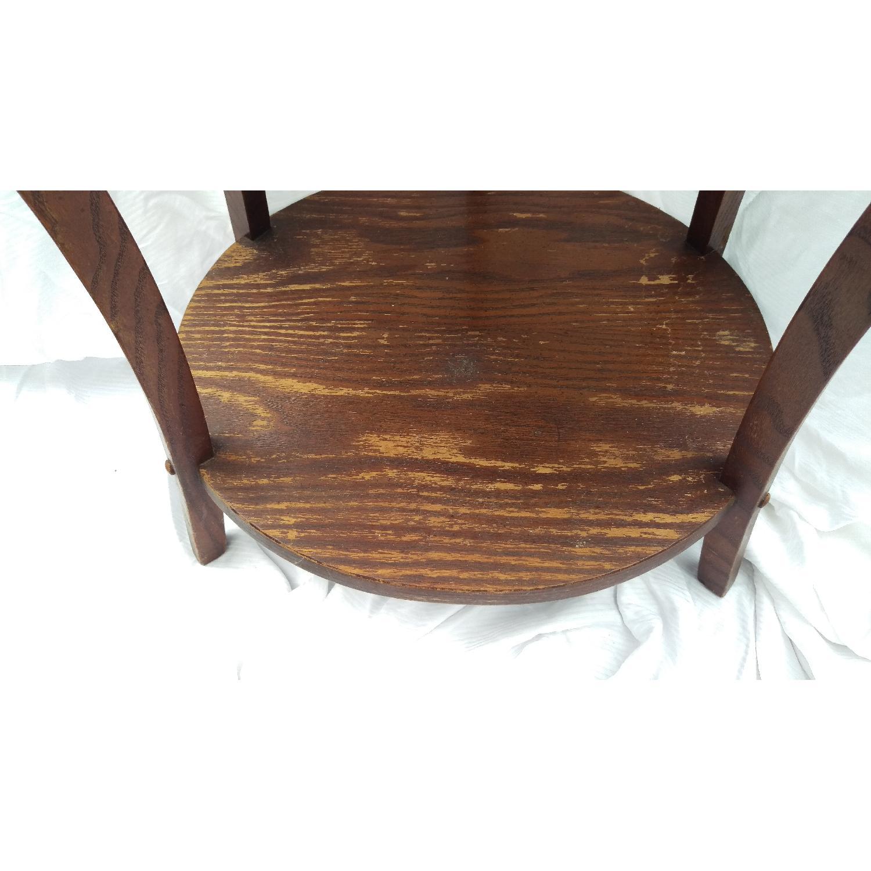 Vintage Lane Tiger Oak Wood Plant Stand-5