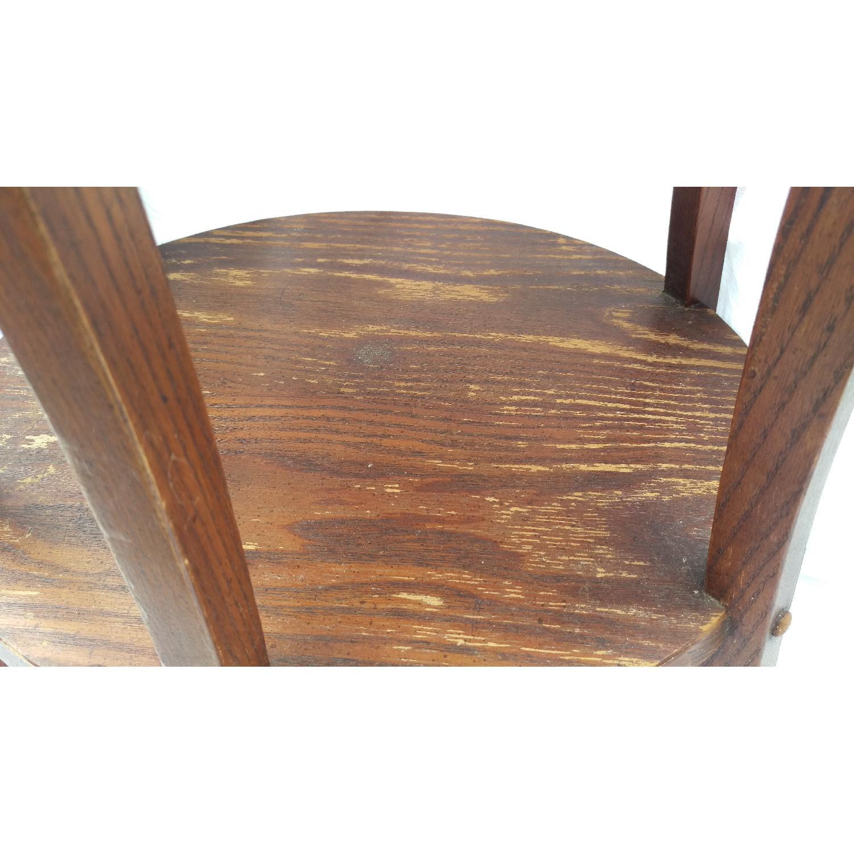 Vintage Lane Tiger Oak Wood Plant Stand-9