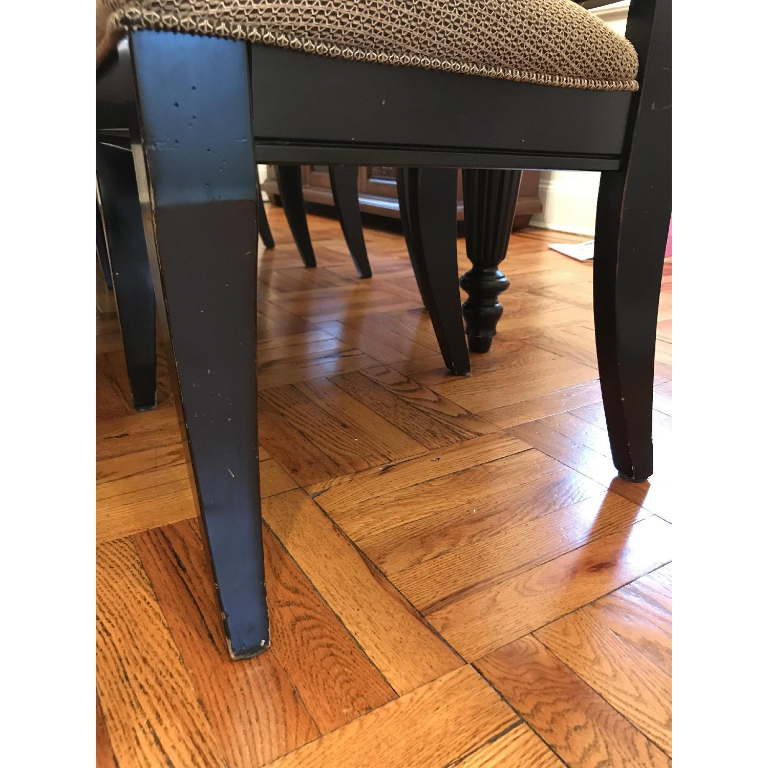 Brown/Black Wood Dining Table w/ 6 Chairs-8