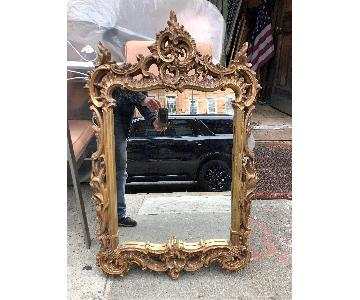 Vintage 1960s Gold Painted Wood Framed Mirror