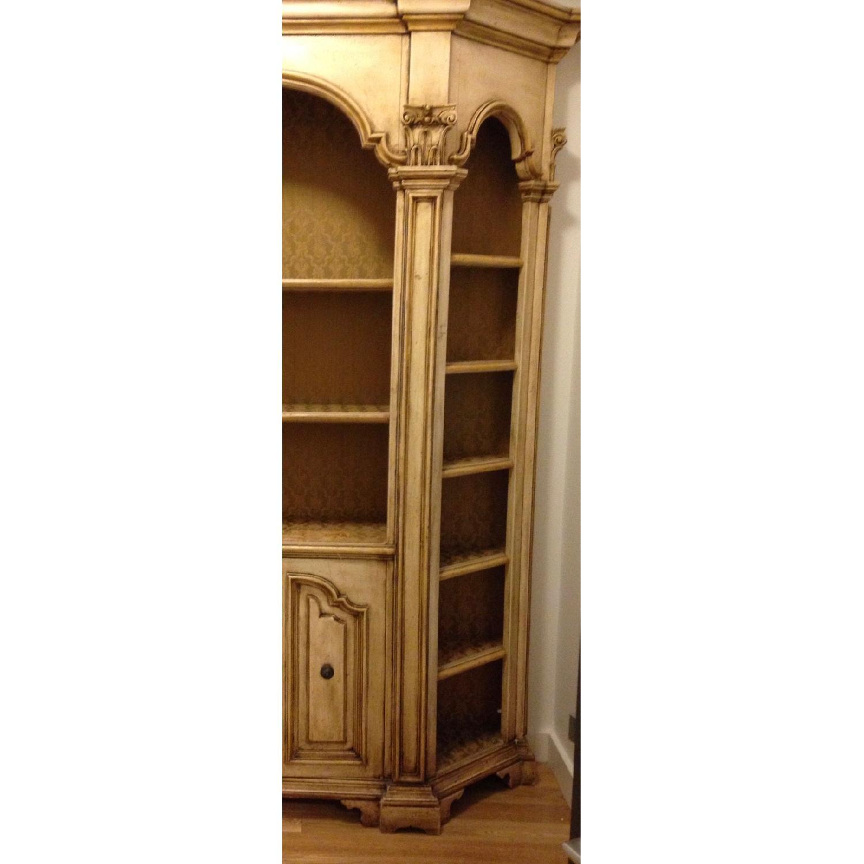 Antique Wood Bookcase w/ Cabinet-0