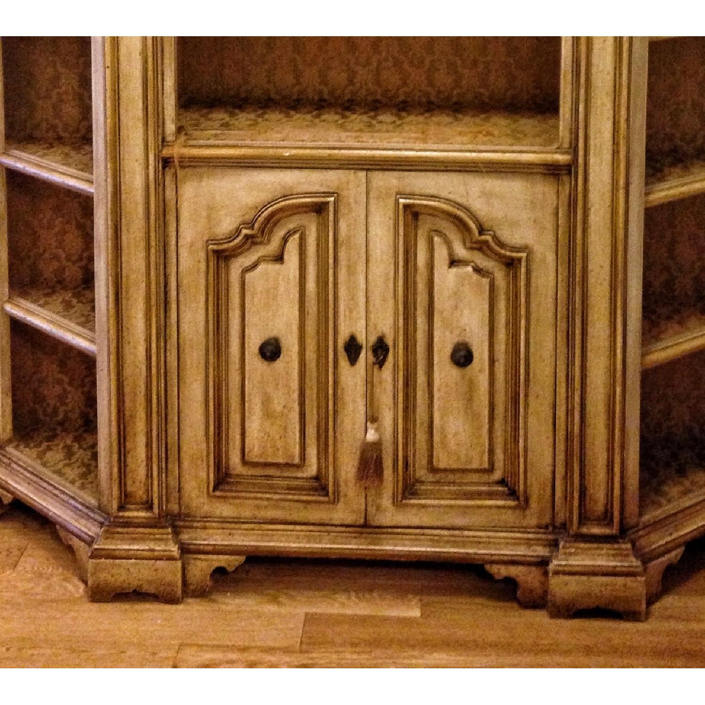 Antique Wood Bookcase w/ Cabinet-1