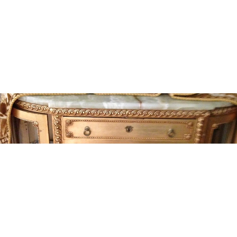 Vintage 24K Gold Foil Chest w/ Onyx Top-1
