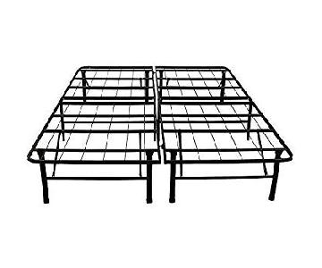 Black Steel Full Bed Frame