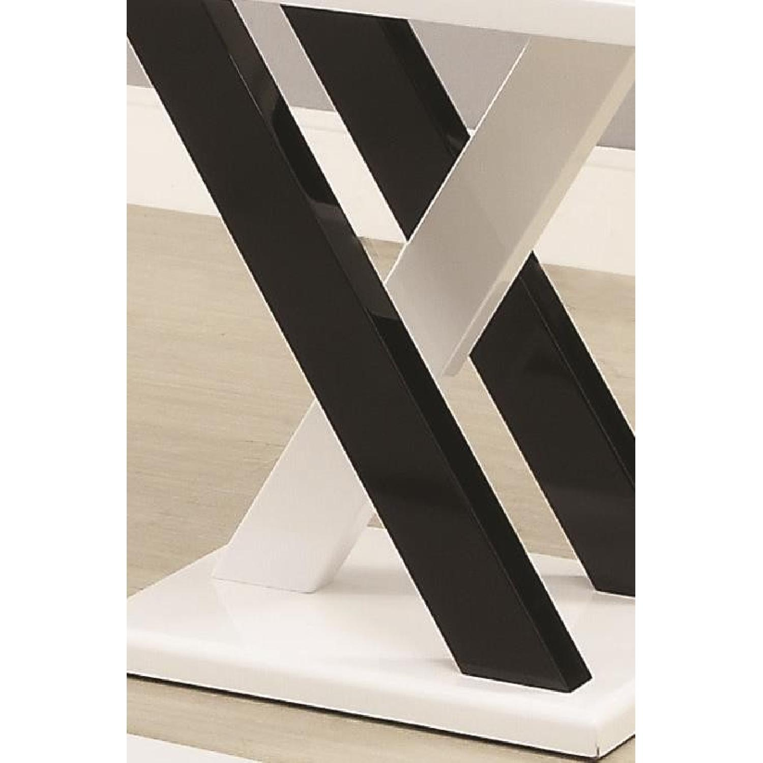Black/White Coffee Table + 2 End Tables-2