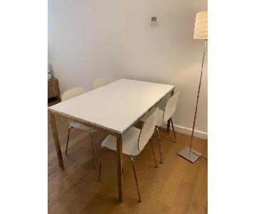 Ikea Torsby Table w/ 4 Svenbertil Chairs in White