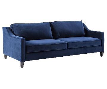 West Elm Paidge Sofa in Navy Velvet